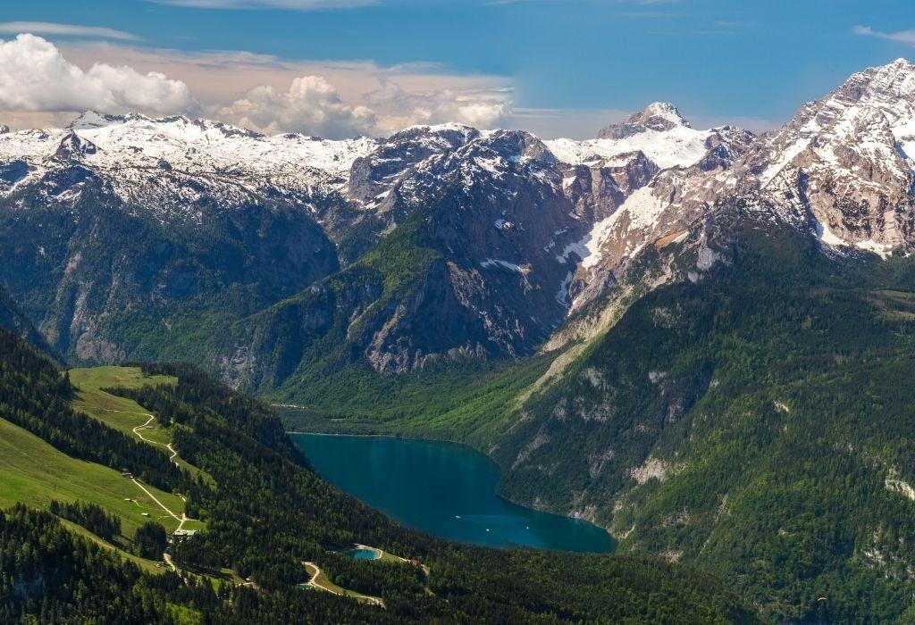 View of Bavarian Alpes From Eagles Nest Berchtesgaden Bavaria